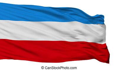 Isolated Mannheim city flag, Germany - Mannheim flag, city...