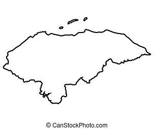 Isolated map of Honduras