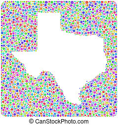 Isolated map of Texas