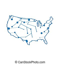 Isolated map of the United States
