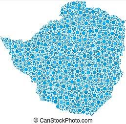 Map Of Zimbabwe Isolated Clipart Search Illustration Drawings - Republic of zimbabwe map