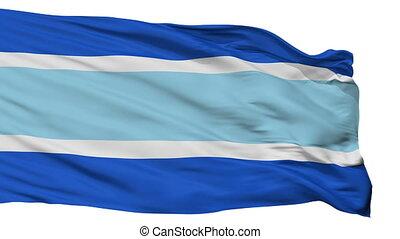 Isolated Marbella city flag, Spain - Marbella flag, city of...
