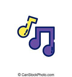 Isolated mardi gras music notes vector design