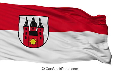 Isolated Marienmunster city flag, Germany - Marienmunster...