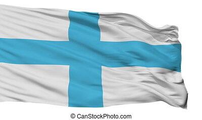 Isolated Marseille city flag, France - Marseille flag, city...