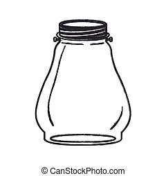 Isolated mason jar design