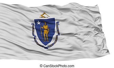Isolated Massachusetts Flag, USA state