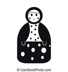 Isolated matrioshka toy icon. Vector illustration design