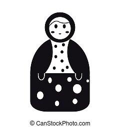 Isolated matrioshka toy icon. Vector illustration design