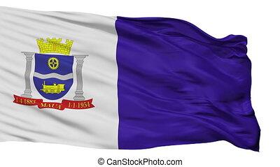 Isolated Maua city flag, Brasil - Maua flag, city of Brasil,...