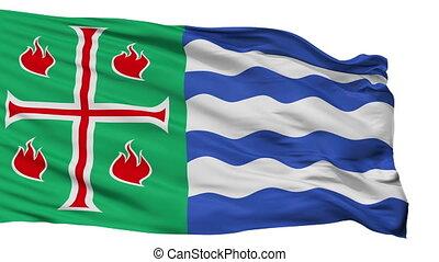 Isolated Mayaguez city flag, Puerto Rico - Mayaguez flag,...
