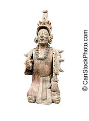 Isolated mayan terracotta - Mayan terracotta isolated on...