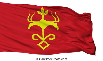 Isolated Maykop city flag, Russia - Maykop flag, city of...