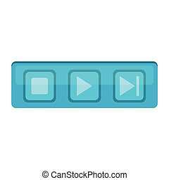 ISolated media web button