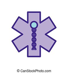 Isolated medical symbol line and fill style icon vector design