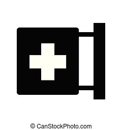 Isolated medicine cross icon