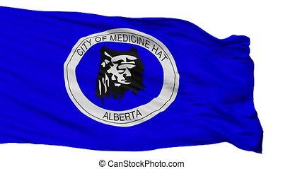 Isolated Medicine Hat Alberta city flag, Canada - Medicine...