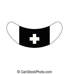 Isolated medicine mask icon. Vector illustration design