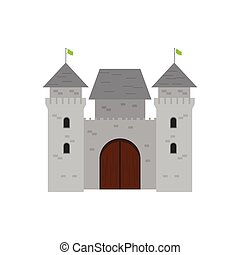 Isolated medieval castle icon