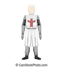 Isolated medieval knight character