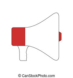 Isolated megaphone icon on a white background