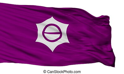 Isolated Meguro city flag, prefecture Tokyo, Japan - Meguro...