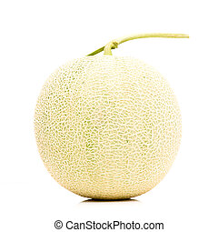 Isolated melon on white background