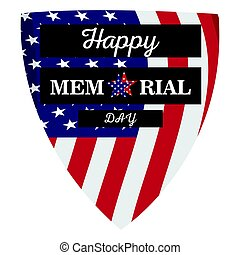 Isolated memorial day label
