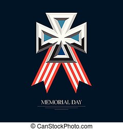 Isolated memorial day poster