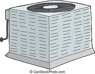 Isolated Metal AC Unit