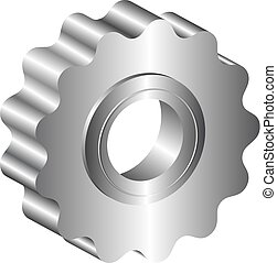 sprocket - isolated metal sprocket