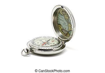 Isolated metallic compass open