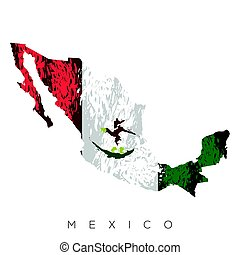 Isolated Mexican map