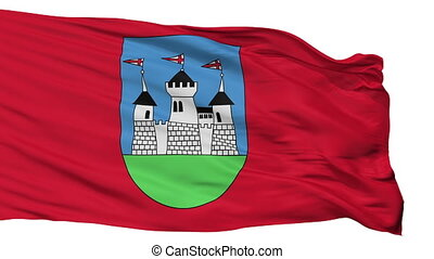 Isolated Miadziel city flag, Belarus - Miadziel flag, city...