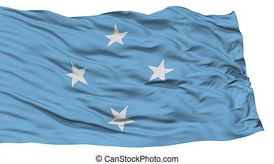 Isolated Micronesia Flag