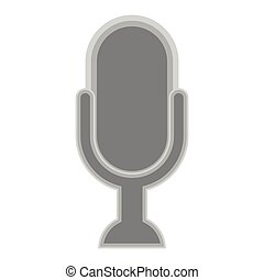 Isolated microphone symbol on white background