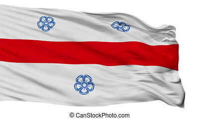 Isolated Miercurea Ciuc city flag, Romania - Miercurea Ciuc...