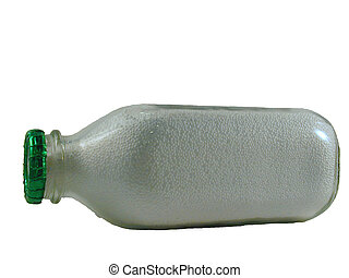 milk bottle - Isolated milk bottle filled with styrofoam...