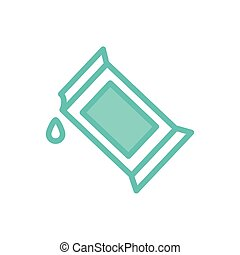 Isolated milk box dou color style icon vector design