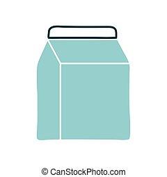 Isolated milk box flat style icon vector design