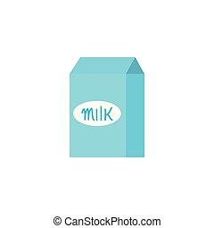 Isolated milk box icon flat design