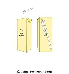 Isolated milk box icon