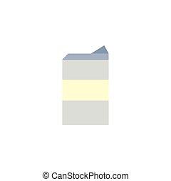 Isolated milk box icon vector design