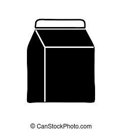 Isolated milk box silhouette style icon vector design