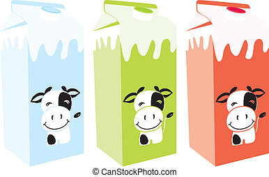 isolated milk carton box