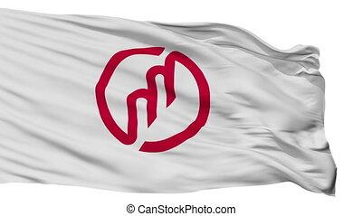 Isolated Miyazu city flag, prefecture Kyoto, Japan - Miyazu ...