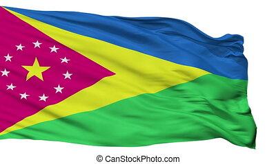 Isolated Moca city flag, Puerto Rico - Moca flag, city of...