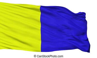 Isolated Modena city flag, Italy - Modena flag, city of...