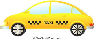 isolated modern taxi car