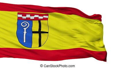 Isolated Monchengladbach city flag, Germany -...